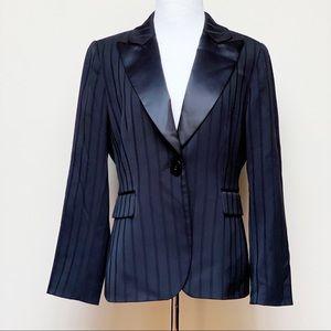 Tahari Arthur S. Levine Stripe Blazer Petite